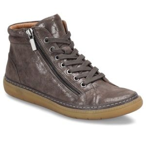 Sofft Annaleigh Metallic Suede High Top Sneakers